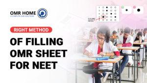 Right Method Of Filling OMR FOR NEET